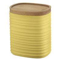 Емкость для хранения с бамбуковой крышкой tierra 1 л желтая 181800206