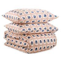 Комплект постельного белья из сатина бежево-розового цвета с принтом blossom time из коллекции cuts&pieces TK20-DC0044