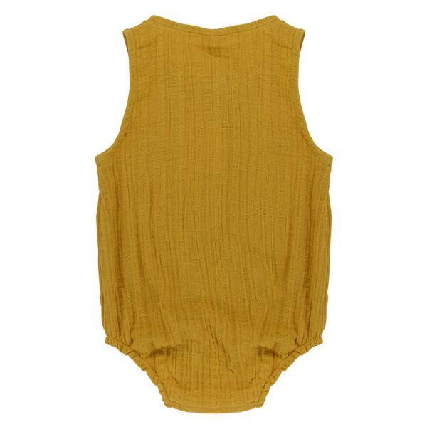 Боди из хлопкового муслина горчичного цвета из коллекции essential 12-18m TK20-KIDS-BOD0004