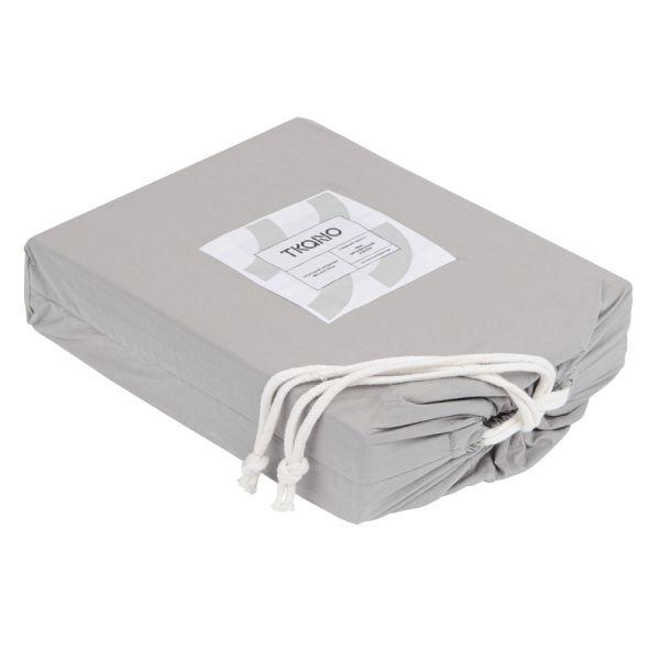 Простыня серого цвета из органического стираного хлопка из коллекции essential TK20-SHI0002