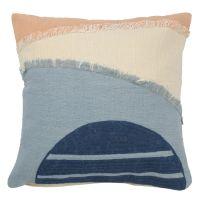 Чехол на подушку с геометрическим принтом и бахромой из коллекции ethnic, 45х45 см TK20-CC0002
