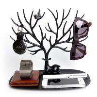 Декоративный органайзер для украшений Deer малый черный QL10171-BK