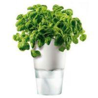 Горшок для цветов с функцией естественного полива 11 см белый 568103