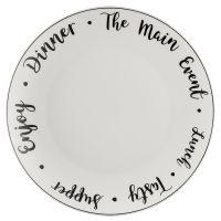 Тарелка обеденная carnaby script d 26,5 см P_0059.611
