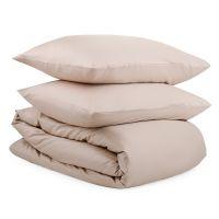 Комплект постельного белья из сатина бежевого цвета из коллекции essential