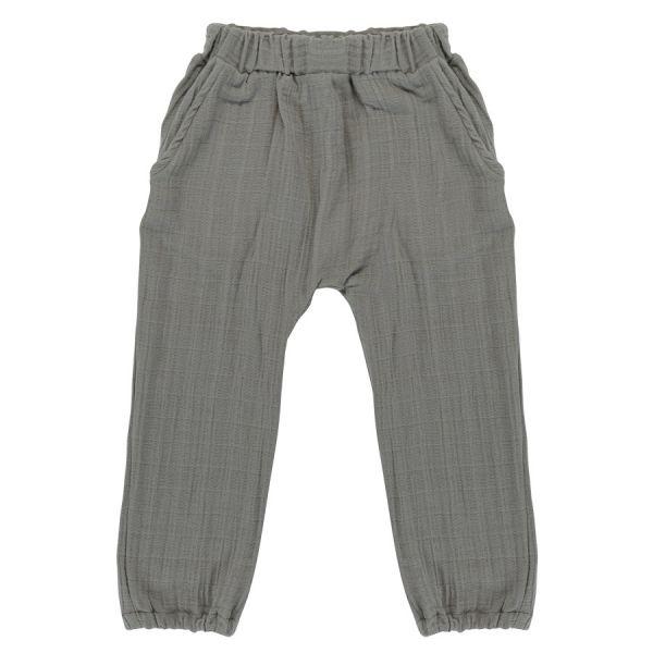 Штаны из хлопкового муслина серого цвета из коллекции essential 18-24m TK20-KIDS-PNT0008