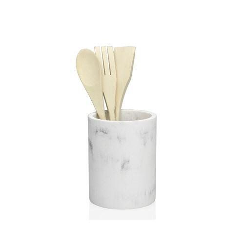 Органайзер с кухонными принадлежностями эффект белого мрамора ANDREA HOUSE CC66284