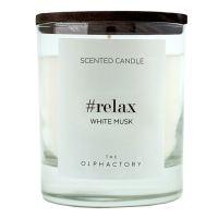 Свеча ароматическая the olphactory relax black Белый мускус 40 ч VV401MBBTO