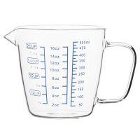Чаша мерная 0,5 л стеклянная PY-500