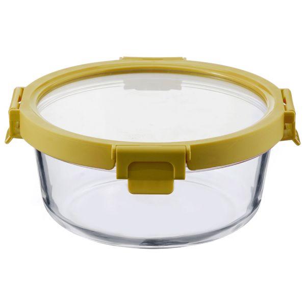 Контейнер для еды стеклянный 950 мл желтый ID950RD_127C