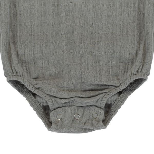 Боди из хлопкового муслина серого цвета из коллекции essential 3-6m TK20-KIDS-BOD0005