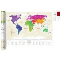 Карта travel map gold world ru 4820191130029