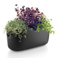 Кашпо для растений с функцией самополива черное 568169