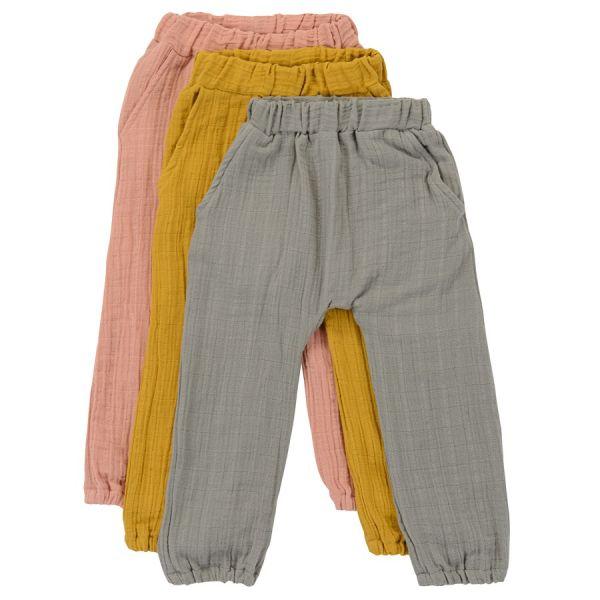 Штаны из хлопкового муслина серого цвета из коллекции essential 12-18m TK20-KIDS-PNT0007