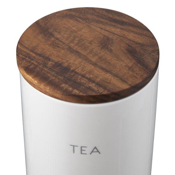 Контейнер для хранения чая 1,2 л с деревянной крышкой