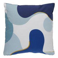 Подушка декоративная из хлопка синего цвета с авторским принтом из коллекции freak fruit TK20-CU0005