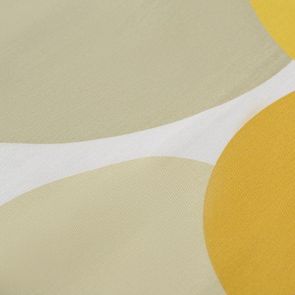Скатерть из хлопка горчичного цвета с авторским принтом из коллекции freak fruit TK20-TC0010