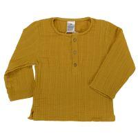 Рубашка из хлопкового муслина горчичного цвета из коллекции essential 24-36m TK20-KIDS-SHI0003