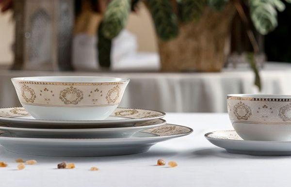 Тарелка десертная Tunisie Porcelaine Riad Or 22 см 5300122 1853