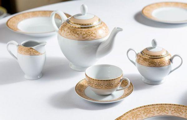 Чайная пара Tunisie Porcelaine Tiffany Or 20 см 6103520 1785
